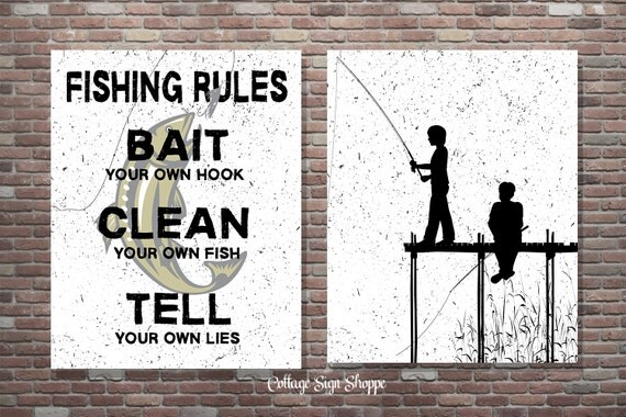 Fishing Wall Art, Fishing Rules, Boys Fishing Wall Art, INSTANT DOWNLOAD, Boys Fishing Decor, Boys Fishing Poster,Boys Fishing Print,Fishing