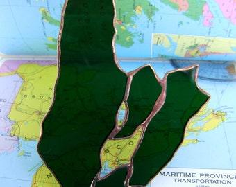Cape Breton Canada Nova Scotia Cabot Trail Celtic Stained Glass Emerald Green St Patricks Day Original Design©