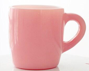 Hazel Atlas Pink Fired-On Mug