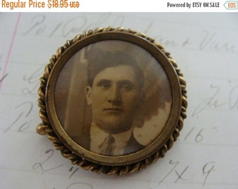 BIG SALE Rare Antique Edwardian Victorian Portrait Brooch