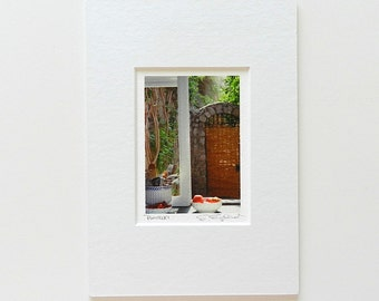 Miniature Art, Positano Italy Photography, Italian Kitchen Print, Small Art, Travel Photography, Italian Villa Tiny Art, Stocking Stuffer