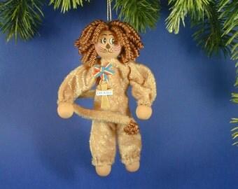 OZ Lion Clothespin Ornament; Oz Lion Collectors; Wizard of Oz Ornaments,