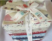 ON SALE Red White Free Fabric Bundle - 30 Fat Quarters & 4 Panels - Sandy Gervais - Moda