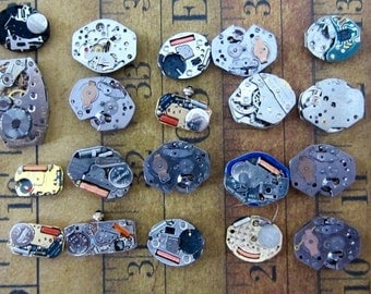 Vintage Digital Watch movements parts Steampunk - Scrapbooking d11