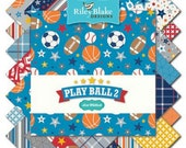 WINTER SALE - Play Ball 2 - 5 inch Stackers (42 squares) - Riley Blake Designs