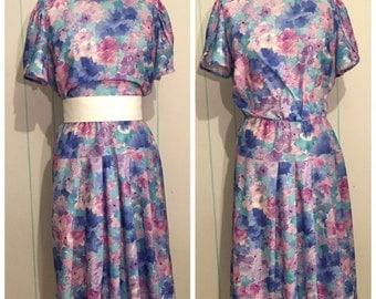 Floral Pleated Dress XL
