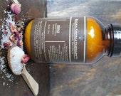 Rose & Sandalwood Bath Salts, Herbal Bath Salts, Therapeutic Bath Salts, 22oz Jar