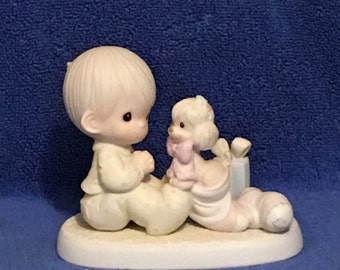 IOB 1987 Precious Moments Figurine-The Greatest Gift is a Friend - Item #109231   (Item 414)