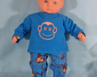 15 inch Doll Monkey Pajamas
