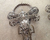 Rare, filigree butterfly antique buckle