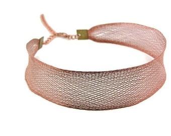 Copper Mesh Choker Necklace