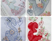 SALE! 26 Rosedaisy Alphabet Stichery Designs - with two tutorials