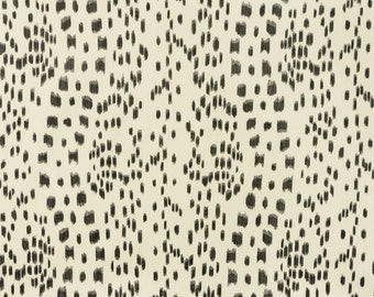 Les Touches By Brunschwig & Fils Pillow Covers in Black and Light Cream