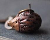 hEdgehoG pendant, MiNi Ceramic Hedgehog, tiny perky ceramic hedgehog pendant, critter jewelry, miniature ceramic pendant, tiny hedgehog