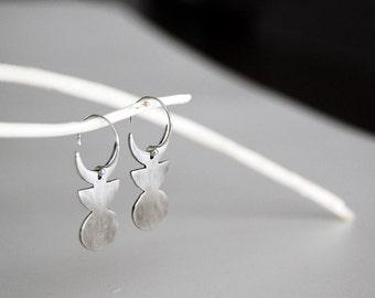Moon Symbol Moon Phase Earrings