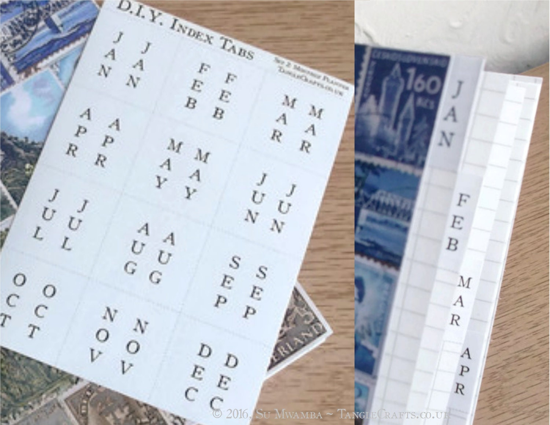 Diy Calendar Tabs : Diy calendar tabs months of year stickers make your own