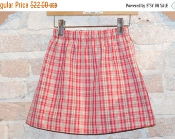 ON SALE European Plaid Modern A-line Skirt - modern toddler girls clothing - kids fall fashion - made to order - sizes 2T 3T 4 5 6 7 8