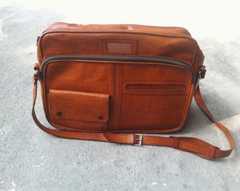 vintage leather Messenger bag  ,rustic briefcade ,cross-body bag  ..  FREE SHIPPING!!