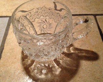 9 Pressed Glass Punch Cups