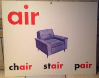 air Large Classroom Phonics Teaching Poster Card