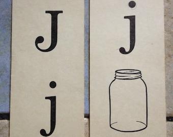 Jj jar Phonics Teaching Cards
