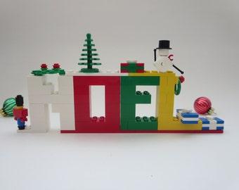 Christmas Decor Lego Bricks Noel Letters - Holiday Decor -  Noel Sign Mantel Decor