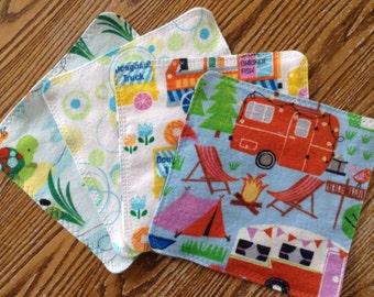 Double Sided Flannel Multi Purpose Cloths, washcloth, hankie, wipe, etc.