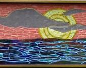 Perdido Sunset ~ Original Mosaic Wall Hanging