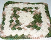 Clearings in the Woods dish cloth - crocheted