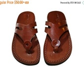 20% OFF Brown Arrow Leather Sandals for Men & Women