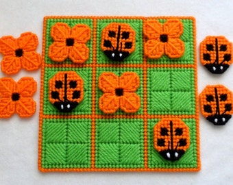Tic-Tac-Toe Game - Ladybugs in Orange