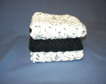 Crocheted Dishclothes. Set of 3. All Cotton (Free US Shipping)