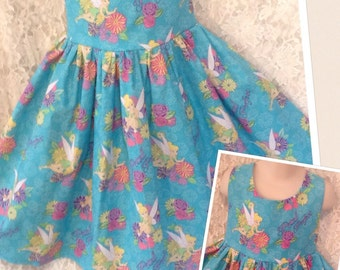 READY to SHIP * Disney Tinkerbell Petal Perfect * PRE-Made dress classic jumper style girl 7 8 - sewnbyrachel