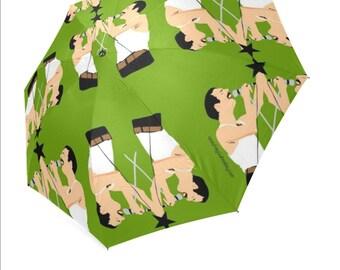 FREDDIE MERCURY QUEEN umbrella ... original illustration