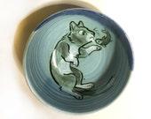 Blue Kitty and Fish Bowl