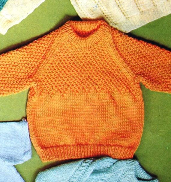 Knitting Patterns / Vintage Baby Knitting Pattern / 11 Baby Sweater Patterns ...