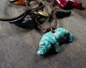Artisan made amuletic necklace - Crepundia - Roman amulets