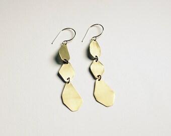 Gemstone Brass Earrings Necklace
