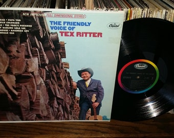 The Friendly Voice of Tex Ritter Vintage Vinyl Record