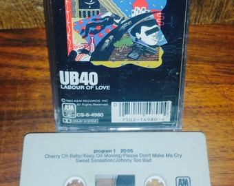 UB40 Labour Of Love Vintage Cassette Tape