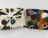 Set of 2  Boppy Pillow Covers Retro Floral and Patchwork 2 for 10  Nursing Pillow Cover   Nesting Pillow Cover  Nurture Pillow Covers