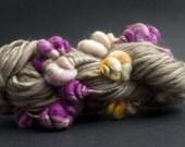 Magnolia, Mostly Merino, CoilSpun BeeHive Art Yarn, HandSpun HandDyed Yarn, 30 yards