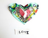 Hearts Valentines Day Sewing Kit Sew a Pillow OR Sew a Wall Hanging 7X12 Beginner Sewing Kit Gift Idea for Valentines Day