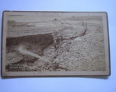 "Antique c1890 Large Cabinet Boudoir Card Photograph by Kaadt ""Placer Mining on Chama River N.M. 1891"""