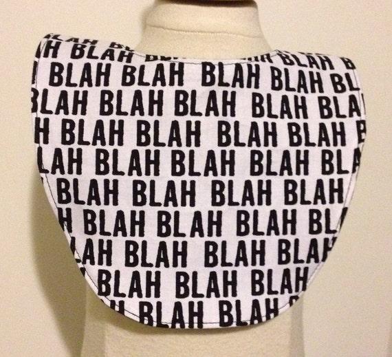 Sale Blah Blah Blah Baby Bib