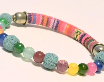 Multicolored Aromatherapy Bracelet