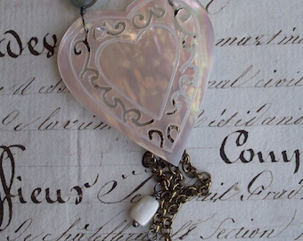 Heart and Soul - Vintage Assemblage Necklace