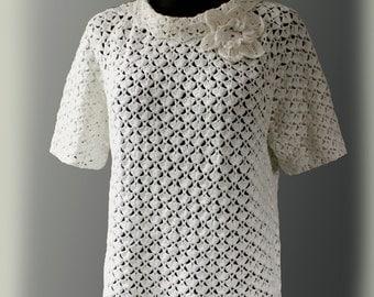 Crochet pattern . Collar Blouse .No 242