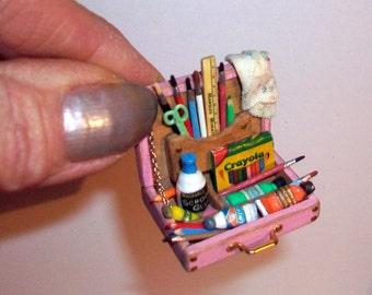 Miniature Child's Paint Box   1:12 scale