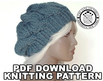 Cupcake Beret Knitting PATTERN, Artanis Calaelen, PDF DOWNLOAD